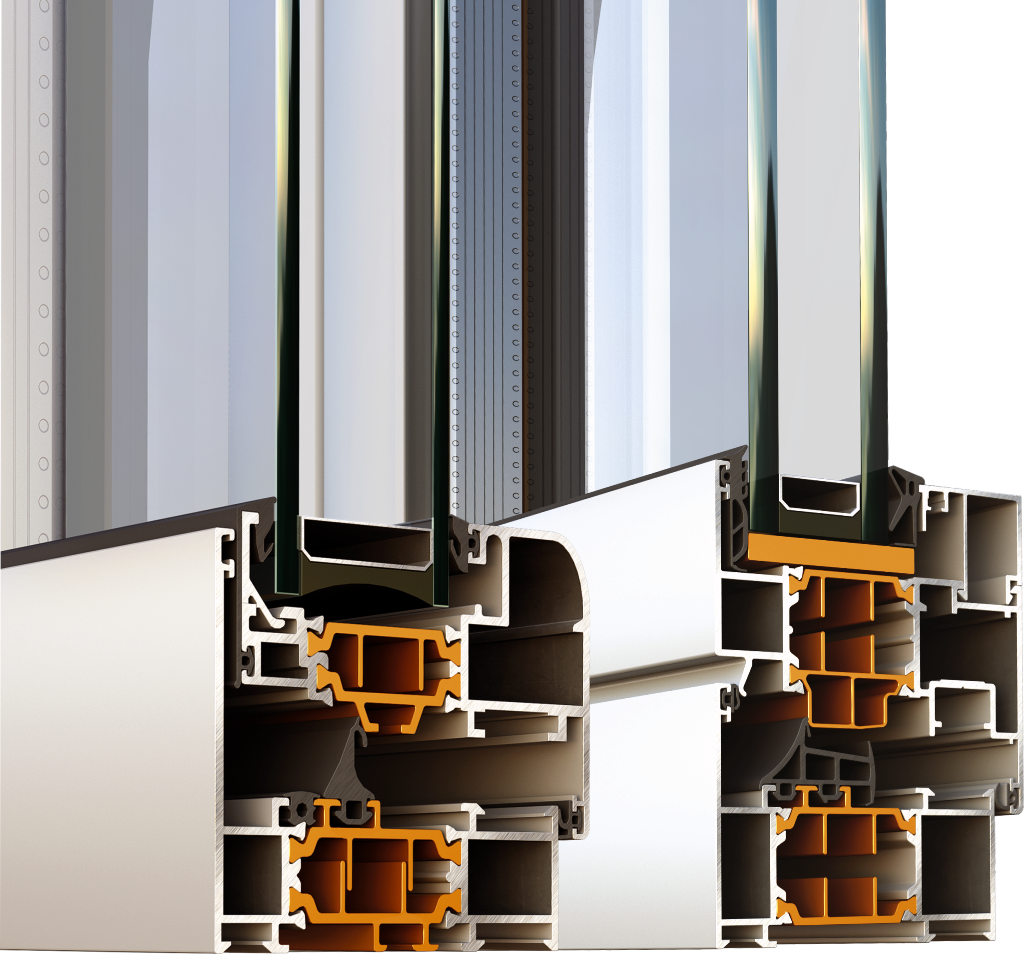 Алюминиевые окна из профиля Аlumil M11500